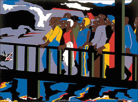 Jacob_Lawrence_Confrontation_at_the_Bridge