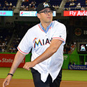 Yale Dean Given the Honor of Throwing the First Pitch at a Miami Marlins Game